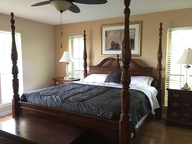 Private Master bedroom with private bathroom.