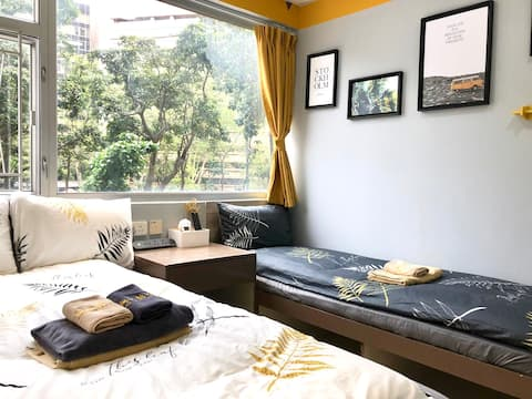 <Monthly$7000> Cozy Triple Room Park View MTR 4min