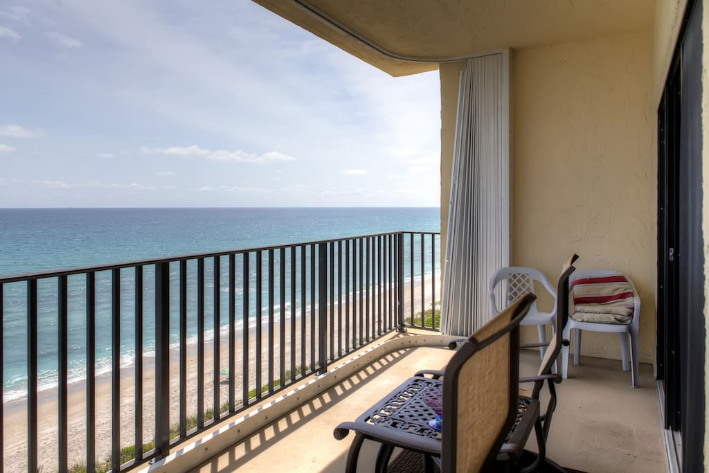 Admire magnificent views from the private balcony.