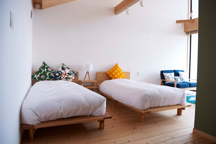 Ocean view room with air bubble bath & yoga studio - Yakushima - Rumah