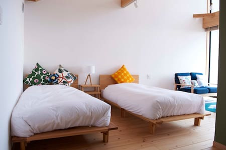 Ocean view room with air bubble bath & yoga studio - Yakushima - Hus