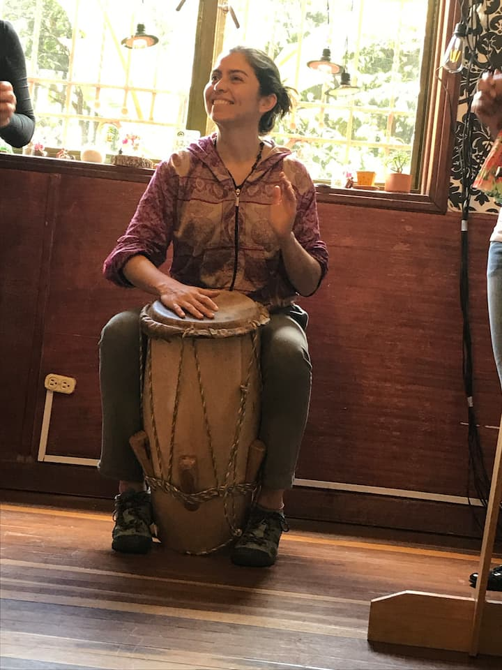 Play the traditional drums