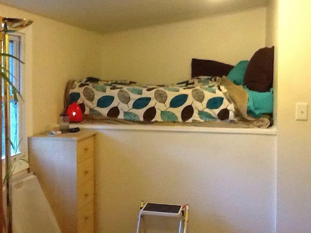 sunny loft bed, eco-arts household