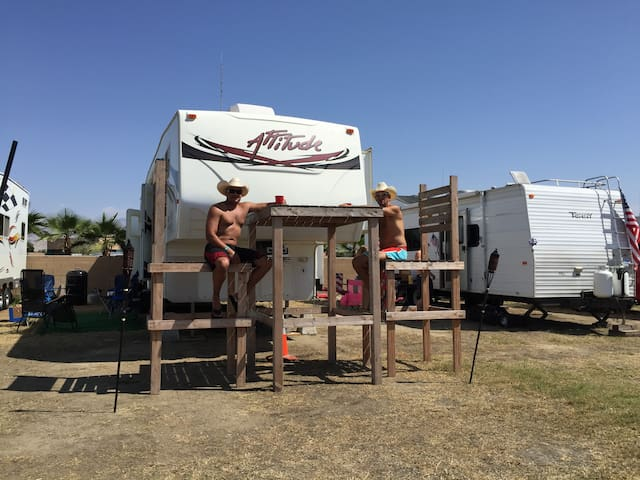 Stagecoach Festival Dry Camping RV Site