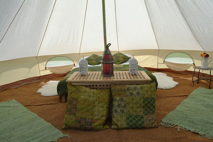 Boutique Glamping Bell Tent Accommodation