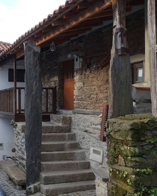 Entrance of the house. Tipical Village house.