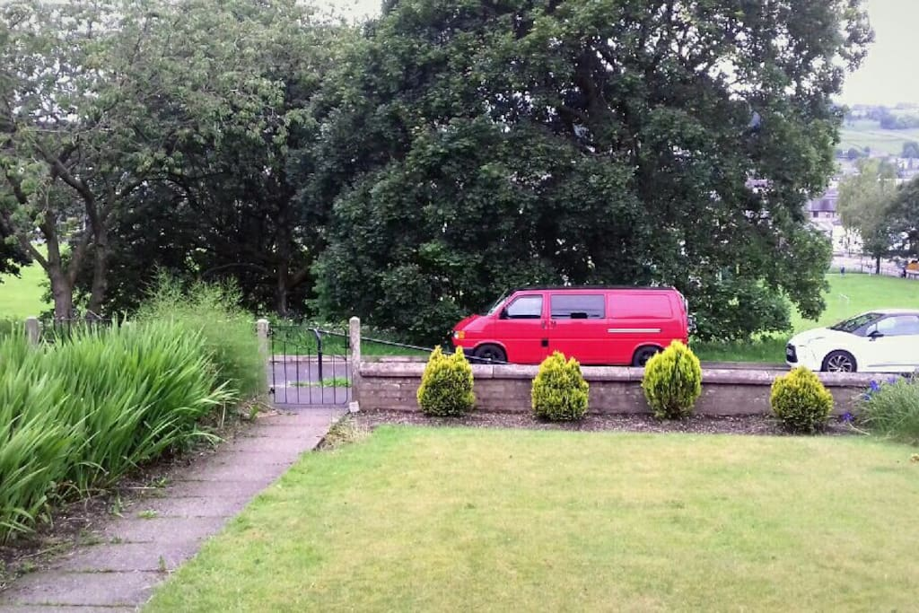 Street parking directly opposite house