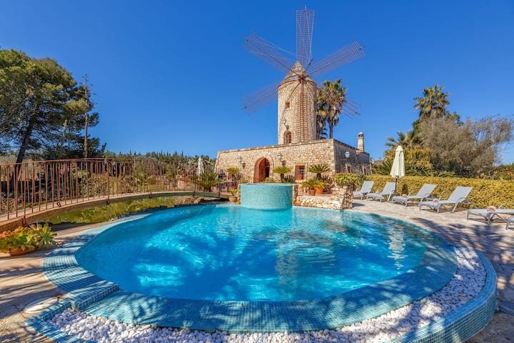 Air-Conditioned Country House with Tower, Pool, Jacuzzi, Terraces, Wi-Fi and Gorgeous Garden