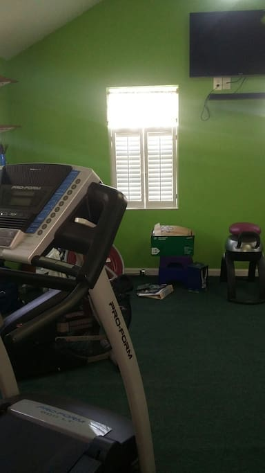 Small gym for working out
