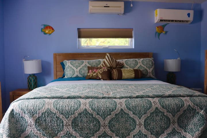Master bedroom It is located in the main cottage it is a king bed