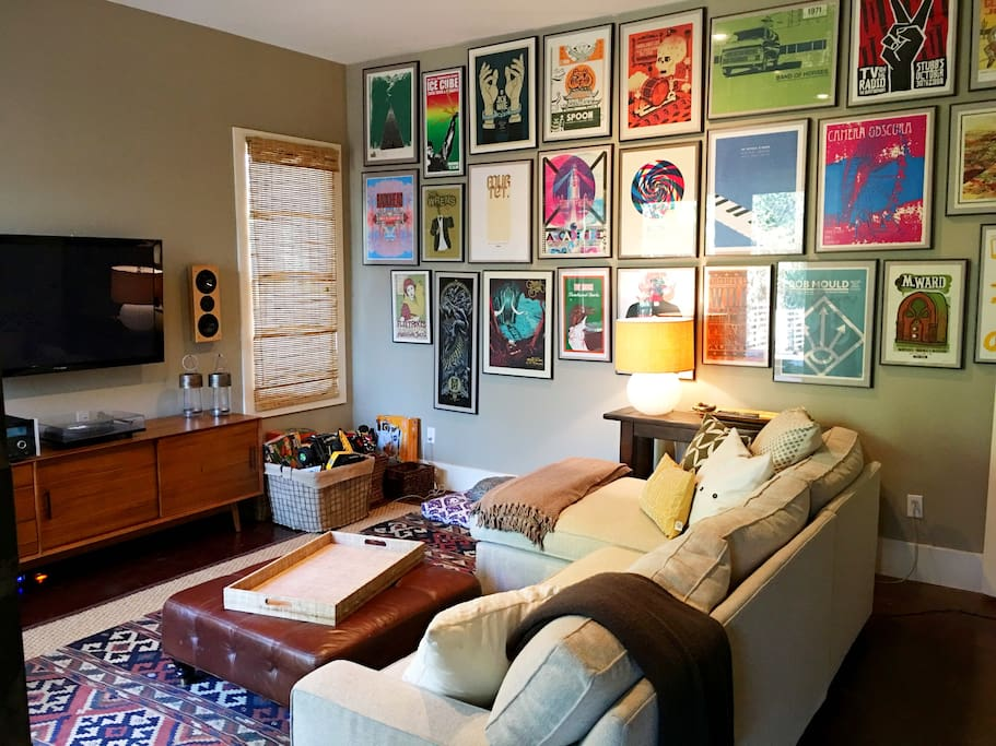 The music room. Additional downstairs living area.