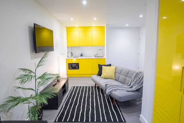 Spacious Luxe Studio Sheffield City Centre