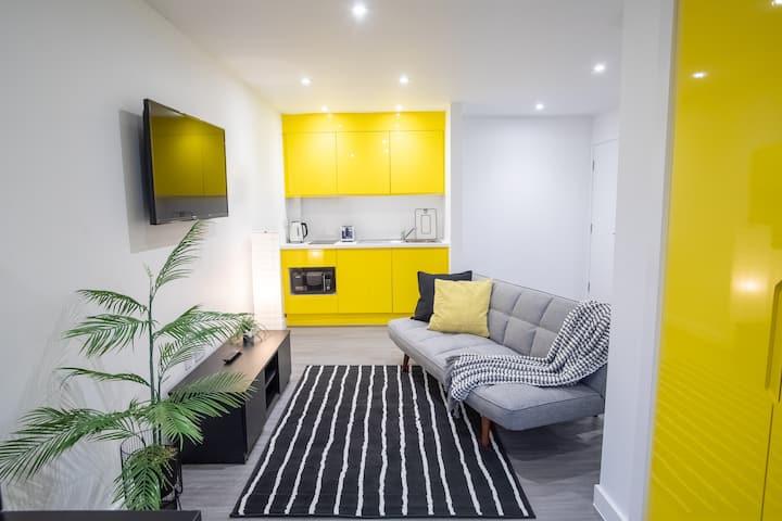 Spacious Luxe Studio Sheffield City Centre