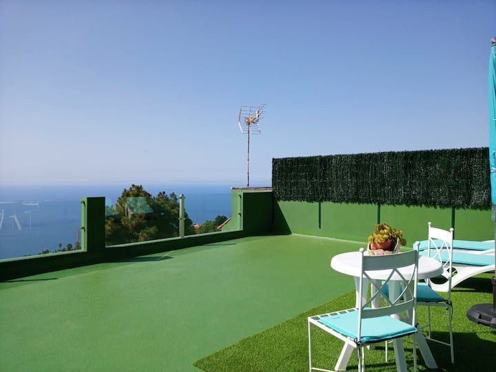 House with 2 bedrooms in La Orotava, with wonderful sea view and terrace - 7 km from the beach