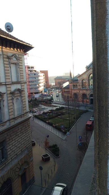 Room with a view to the Great Market of Budapest