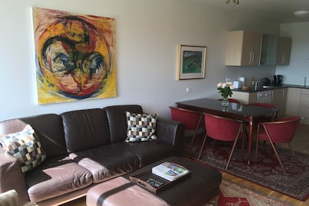 Scenic apartment with two bedrooms - Borgarnes - Apartment