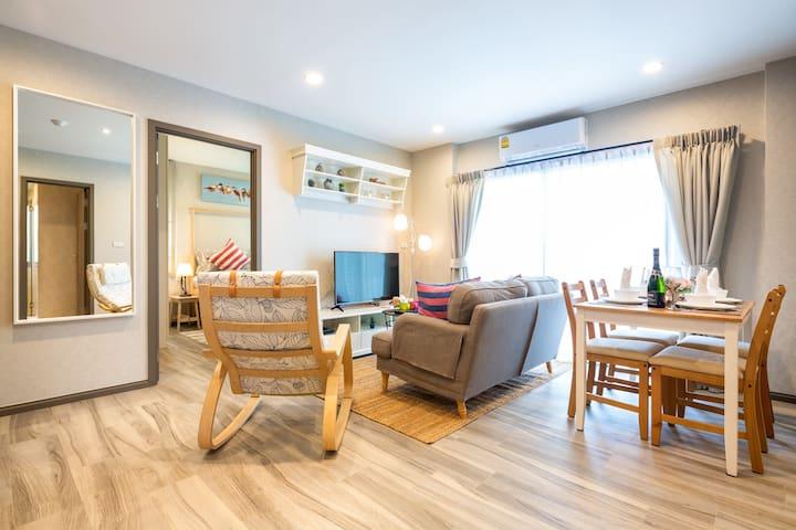 2 Bedroom Charming Apartment @Nai Yang beach–250m