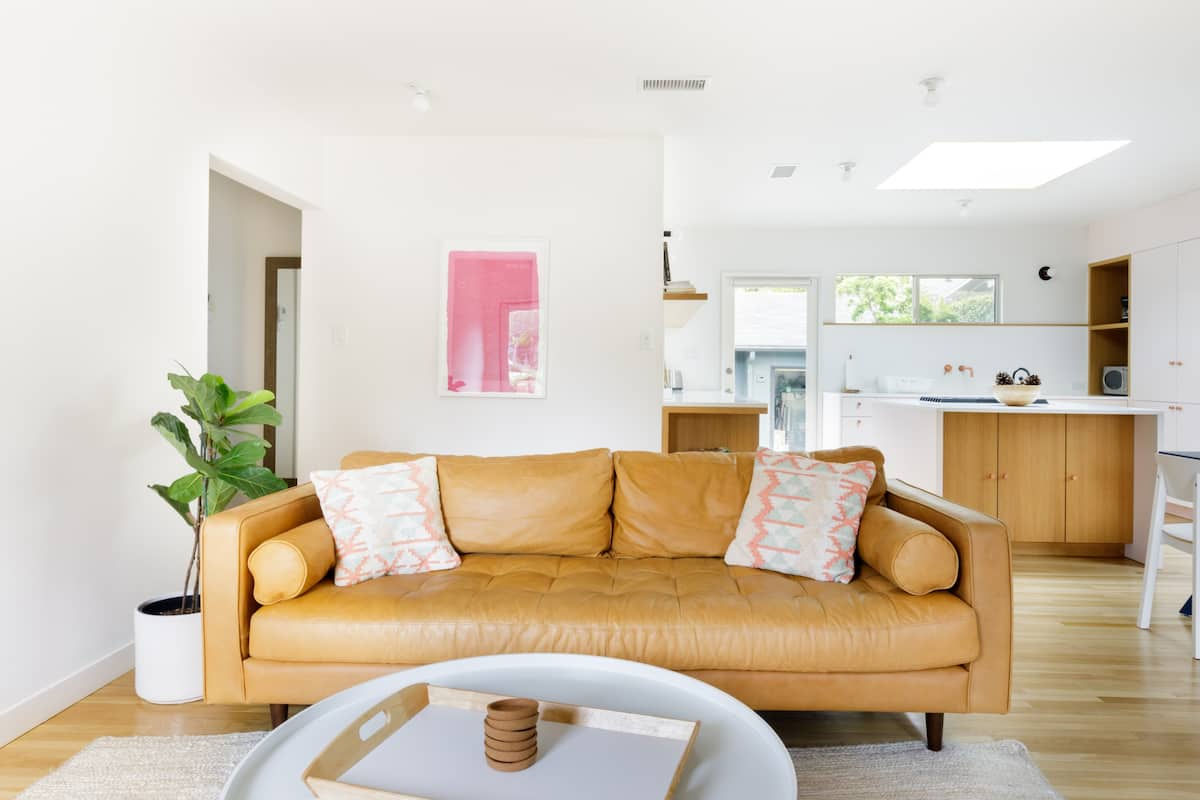 Bright, Immaculate Dreamspace with a Blush Kitchen