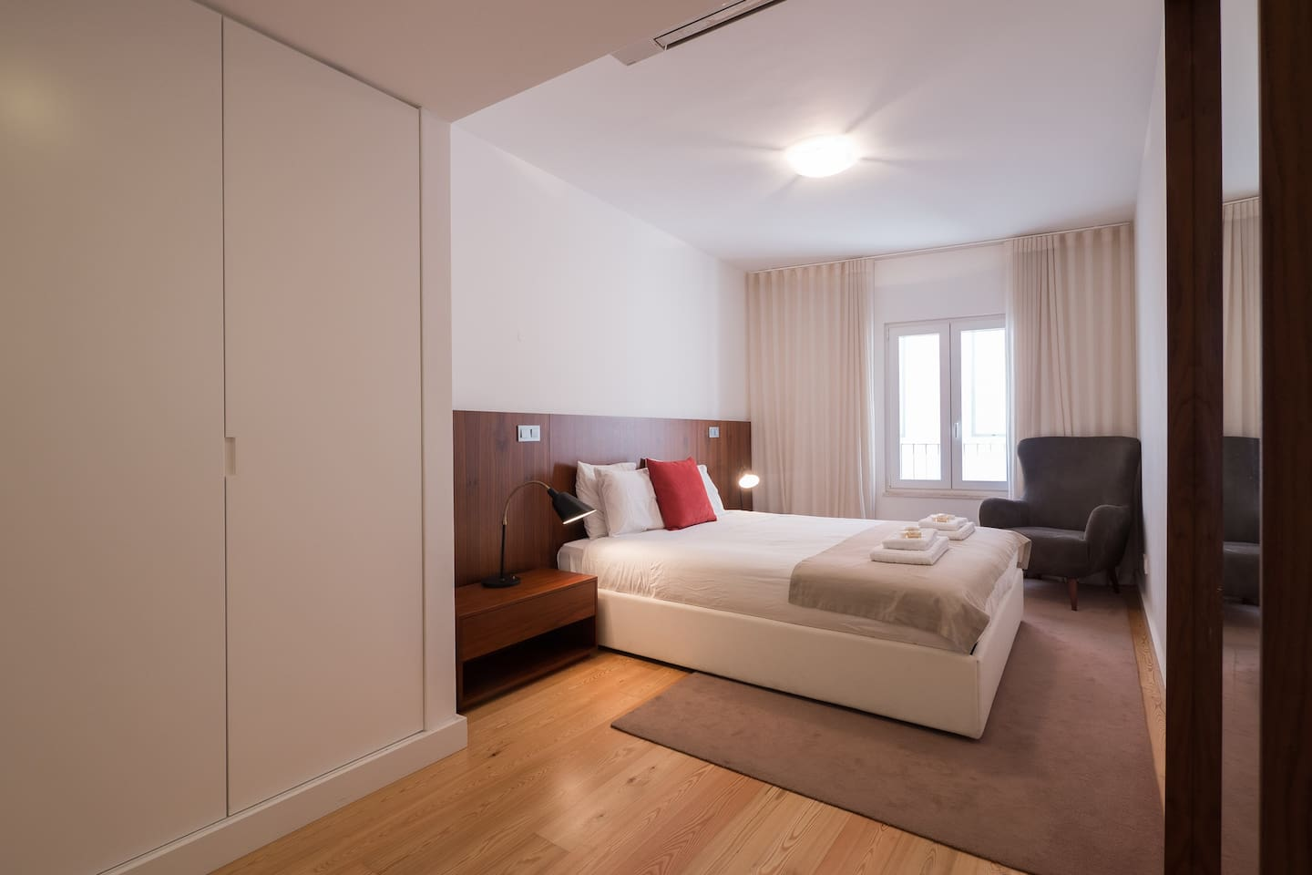 Spacious and comfortable ensuite master bedroom with AC.