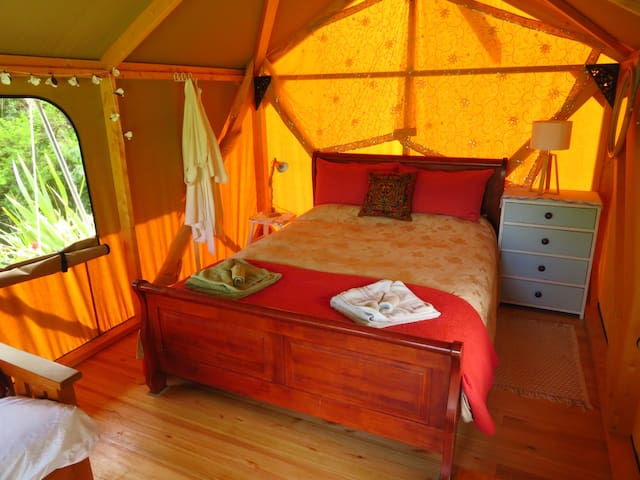 Bath robes and towel have been provided for you for you luxury camping experience