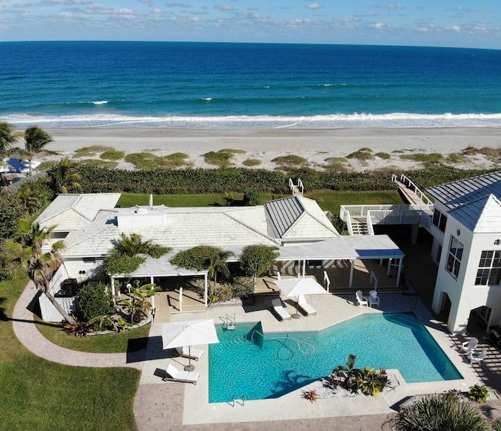 Beachfront Cottage, Best Location w/ Heated Pool