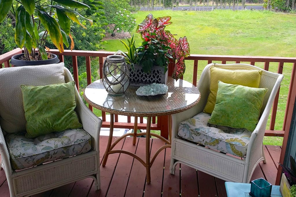 Your own private spacious Lanai to enjoy the fresh air of the Southern Most Point in the US!