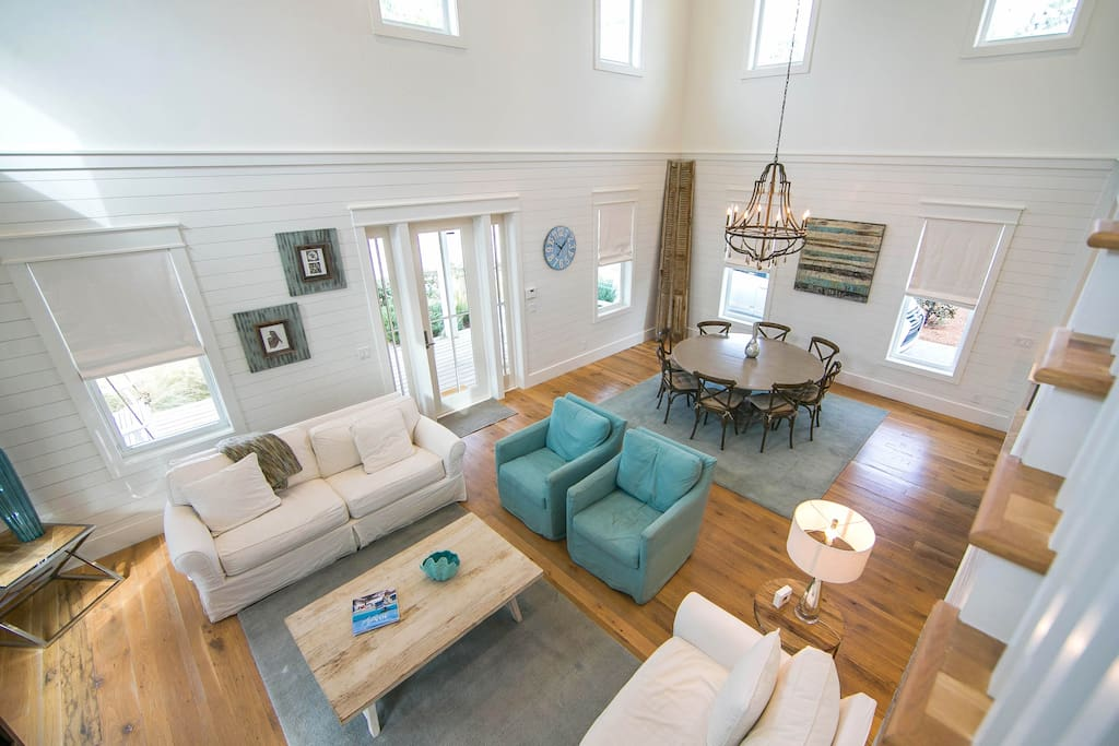 There is plenty of room for the whole family in the open concept living space.