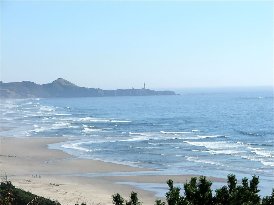 View South to the Yaquina Head Lighthouse