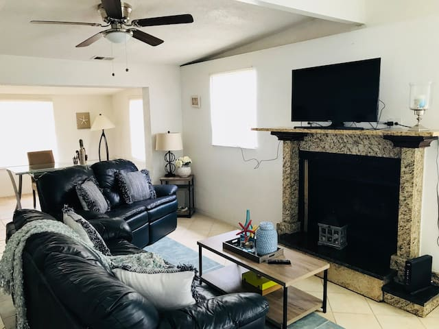 Living room TV with Netflix