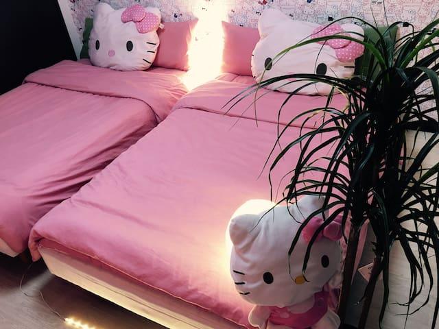 D-2 ☆ Hello Kitty ☆ room! Quiet area near Umeda - Ōsaka-shi - Apartment