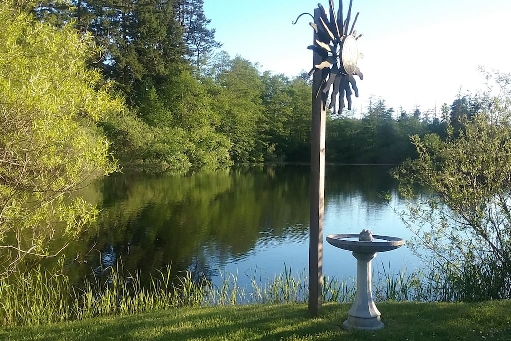 Spring Time View of Pond