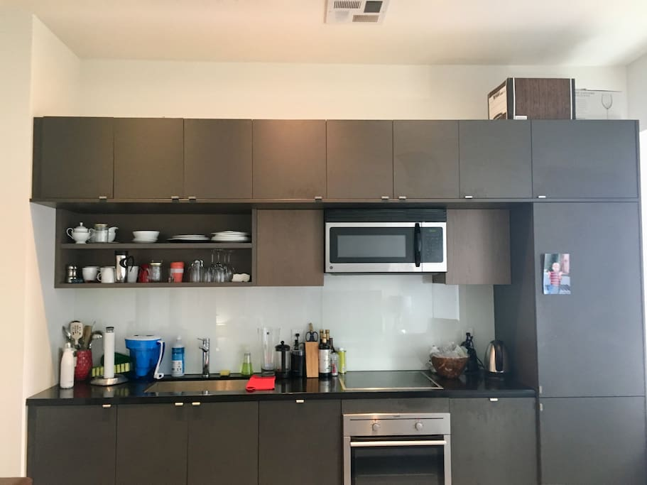 Kitchen with gourmet coffee provided!