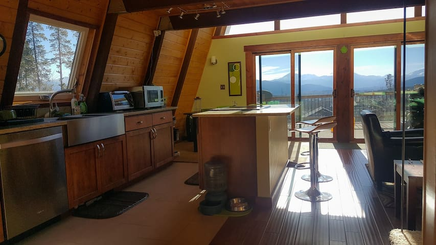 Modern Cabin with Incredible View, Backs to Forest
