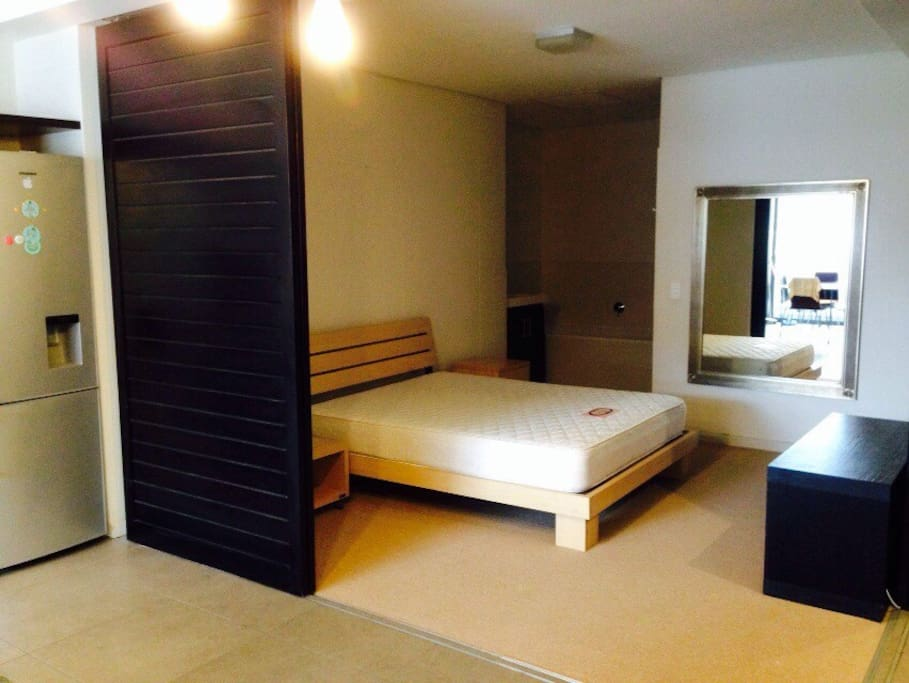 Double size bed with on suite bathroom