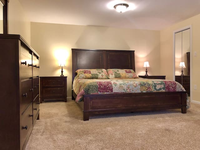 Main Floor Master Suite with King Bed and Private Bath