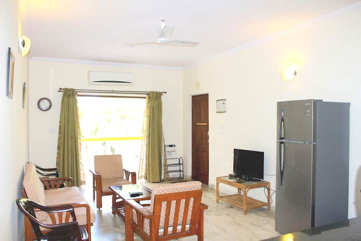 [Sanitized] 1BHK With Wi-Fi Near Candolim Beach
