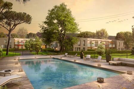Appartement moderne dans parc centenaire - Neuville-sur-Saône - Appartement en résidence