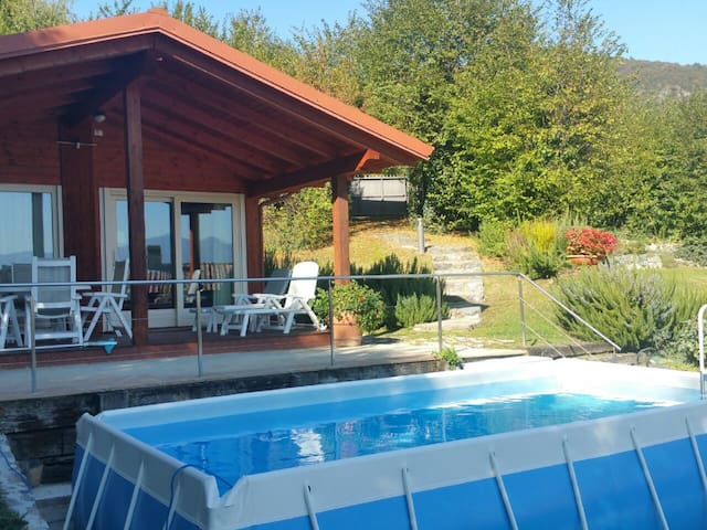 Belvedere Chalet with private pool and garden