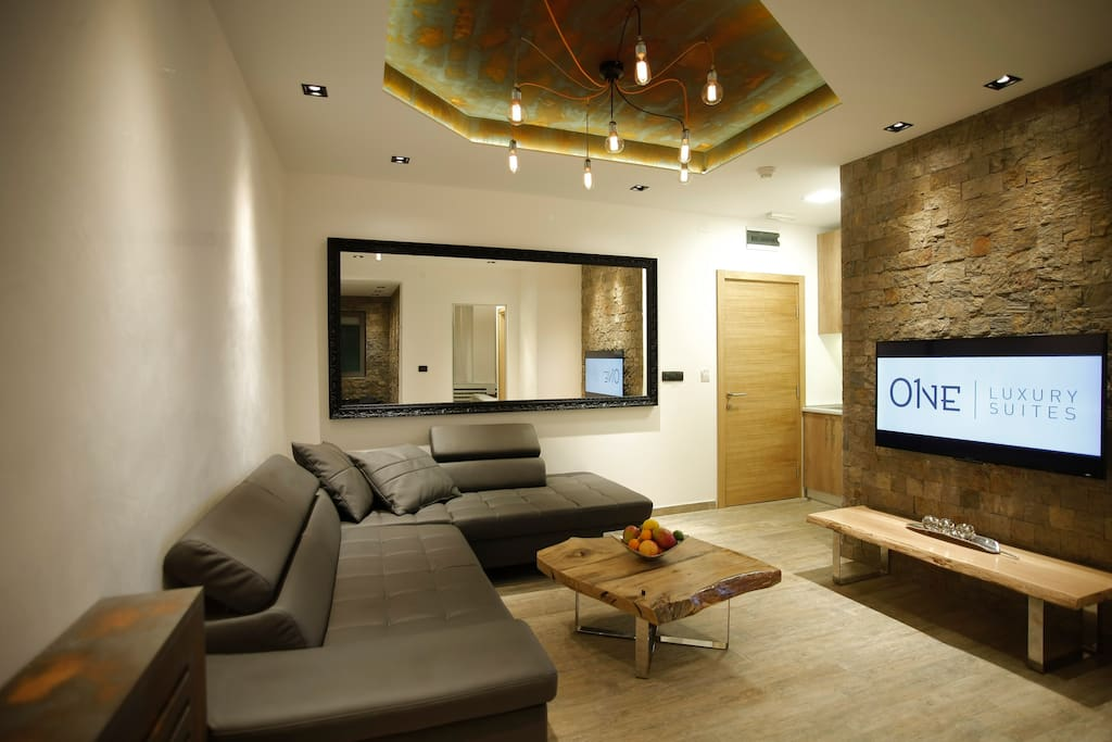 Smart TV, living room,sofa bed, kitchen