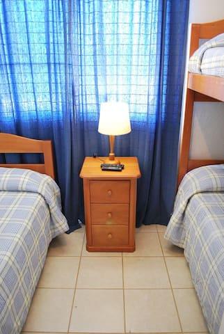 Segundo dormitorio con capacidad para 3 personas