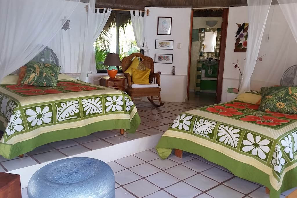 the cabana with queen and full size bed