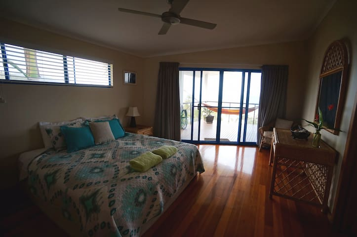 Guest bedroom with direct balcony access