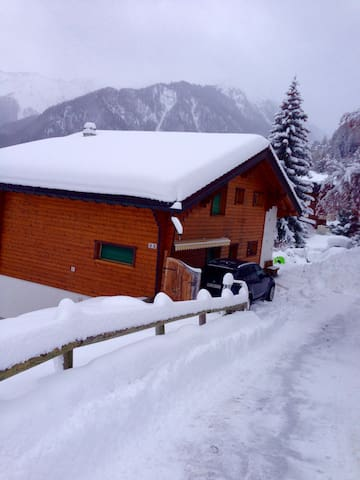 Beautiful chalet,right in the center,ski in-out - Riddes - Alpehytte