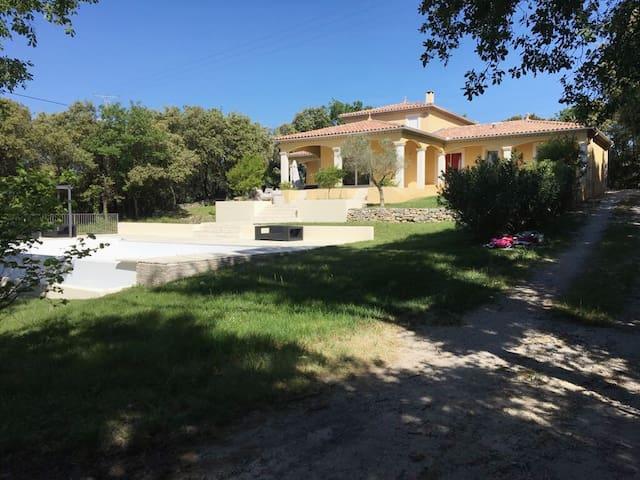 Mediterranean Villa with waterfall swimming pool
