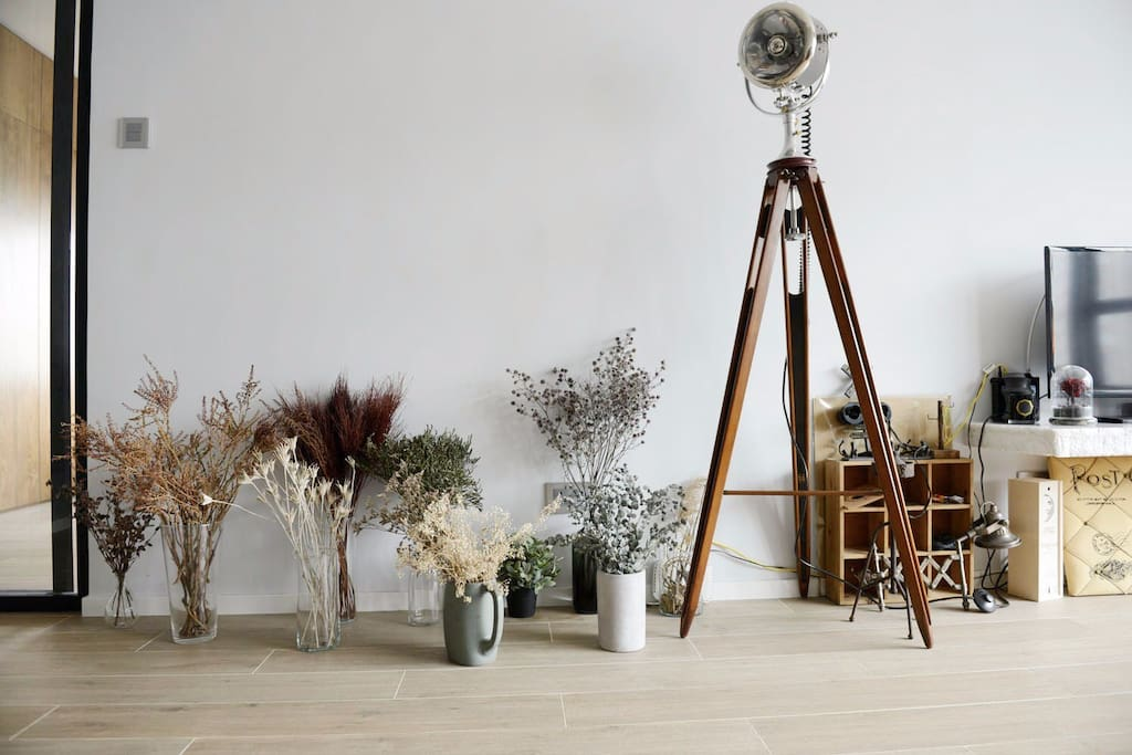 Daytime - Contemporary and stylish flat decorated with handmade dried flowers