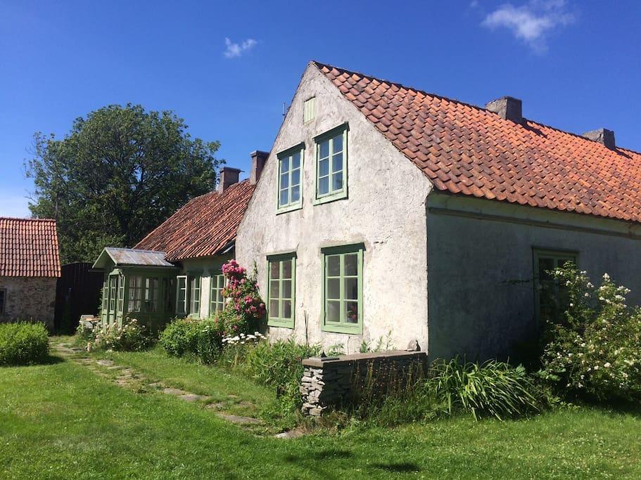 kalksteinhaus zu fu zum meer und strand h user zur miete in gotland s gotlands l n schweden. Black Bedroom Furniture Sets. Home Design Ideas