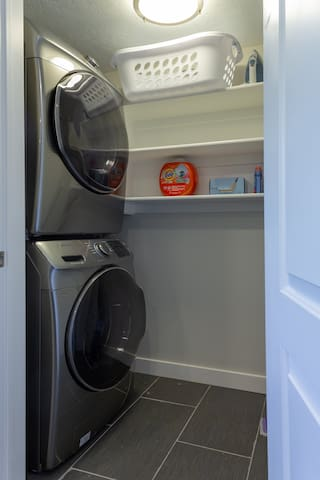 Brand new in-unit washer and dryer for your use