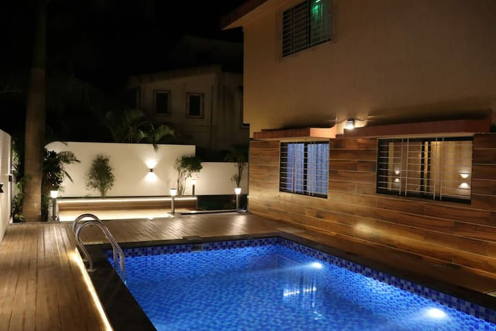 HOMELY 3 BHK BUNGALOW WITH SWIMMING POOL