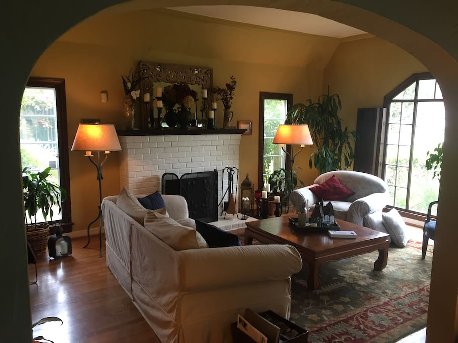 Guests have use of the cozy living room...