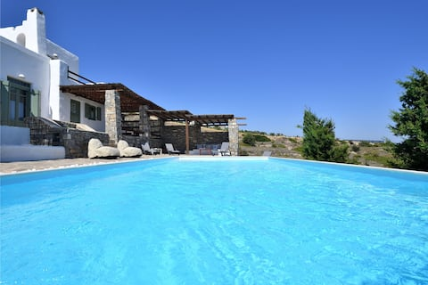Villa Coconut z prywatnym basenem, niedaleko Naoussa